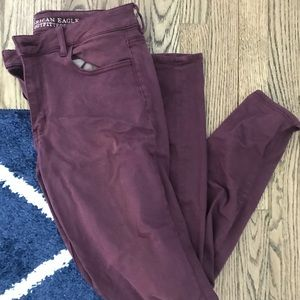 Size 12 maroon American eagle jeans